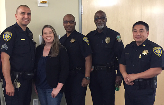 UC Merced police officers and citizen police academy members