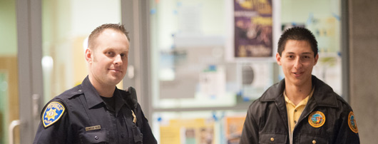 UC Merced police officers smiling